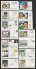 Autographs:Post Cards, New York Yankees Single-Signed First Day Cover Lot of 21....(Total: 21 items)