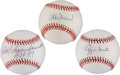 Autographs:Baseballs, St. Louis Cardinals Hall of Famers Single-Signed Baseballs Lot of3.... (Total: 3 items)