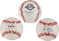 Autographs:Baseballs, Future Hall of Fame Pitchers Single-Signed Baseballs Lot of 3....(Total: 3 items)