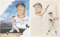 Autographs:Photos, Mickey Mantle Signed Photo Lot of 2.... (Total: 2 items)