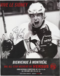 Autographs:Photos, Sidney Crosby Signed Magazine Advertisement....