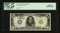 Small Size:Federal Reserve Notes, Fr. 2210-H $1000 1928 Light Green Seal Federal Reserve Note. PCGS Gem New 65PPQ.. ...