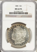 Morgan Dollars: , 1885 $1 MS62 Prooflike NGC. NGC Census: (72/905). PCGS Population (166/1176). Numismedia Wsl. Price for problem free NGC/P...