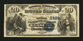 National Bank Notes:Kentucky, Glasgow, KY - $20 1882 Value Back Fr. 581 The Trigg NB Ch. #(S)5486. ...