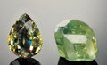 Gems:Rough & Cut, RARE STONE: DEMANTOID GARNET - ROUGH & CUT SET. ... (Total: 2Items)