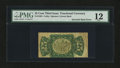 Fractional Currency:Third Issue, Fr. 1294 Milton 3R25.2h 25¢ Third Issue Entire Back Inverted PMG Fine 12. . ...