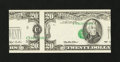 Error Notes:Major Errors, Fr. 2079-E $20 1993 Federal Reserve Note. Gem Crisp Uncirculated.....