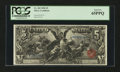 Large Size:Silver Certificates, Fr. 269 $5 1896 Silver Certificate PCGS Gem New 65PPQ....