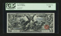 Large Size:Silver Certificates, Fr. 270 $5 1896 Silver Certificate PCGS Very Choice New 64....