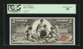 Large Size:Silver Certificates, Fr. 247 $2 1896 Silver Certificate PCGS Choice About New 58....