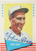 Autographs:Sports Cards, 1961 Fleer Eppa Rixey #71, Signed....
