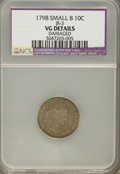 Early Dimes: , 1798 10C Small 8--Damaged--NCS. VG Details. JR-3. PCGS Population(1/16). Numismedia Wsl. Price for pr...