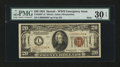 Small Size:World War II Emergency Notes, Fr. 2304* $20 1934 Mule Hawaii Federal Reserve Note. PMG Very Fine30 EPQ.. ...