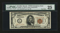 Small Size:World War II Emergency Notes, Fr. 2301* $5 1934 Hawaii Federal Reserve Note. PMG Very Fine 25.....