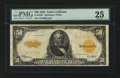 Large Size:Gold Certificates, Fr. 1200 $50 1922 Gold Certificate Star Note PMG Very Fine 25....