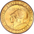 Commemorative Gold, 1915-S $50 Panama-Pacific 50 Dollar Round MS62 PCGS....