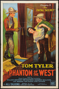 """The Phantom of the West (Mascot, 1931). One Sheet (27"""" X 41"""") Chapter 9 -- """"The Fatal Secret"""". Seria..."""
