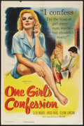 """Movie Posters:Bad Girl, One Girl's Confession (Columbia, 1953). One Sheet (27"""" X 41""""). BadGirl.. ..."""