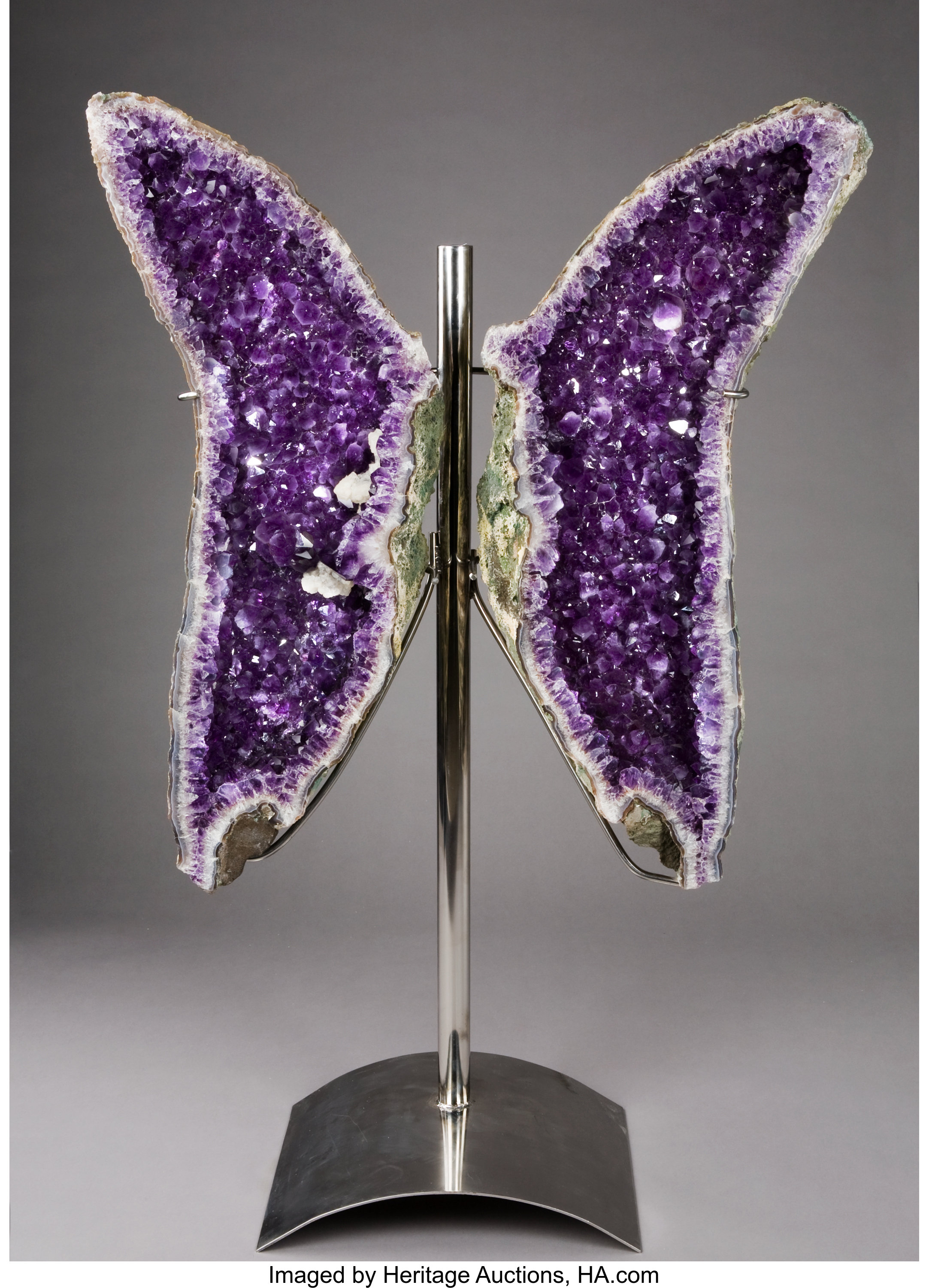 Butterfly Amethyst Sculpture Minerals Decorative Lot 53134 Heritage Auctions