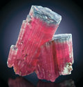 Minerals:Museum Specimens, BLUE CAP TOURMALINE. ...
