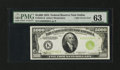 Fr. 2221-K $5000 1934 Light Green Seal Federal Reserve Note. PMG Choice Uncirculated 63