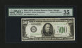 Small Size:Federal Reserve Notes, Fr. 2202-G* $500 1934A Federal Reserve Note. PMG Choice Very Fine 35.. ...