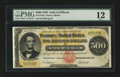 Large Size:Gold Certificates, Fr. 1216a $500 1882 Gold Certificate PMG Fine 12....