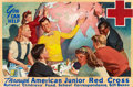 Mainstream Illustration, RICO TOMASO (American, 1898-1985). You Can Help, American JuniorRed Cross, poster illustration. Oil on canvas. 22 x 34....(Total: 3 Items)