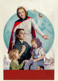 Paintings, ROBERT C. KAUFFMANN (American, 1900-1999). American Red Cross, poster illustration, 1946. Oil on canvas. 36 x 26 in.. Si...