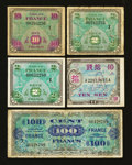 About France Allied Military Currency Replacements Mostly