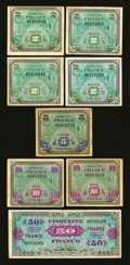 World Currency: , France Allied Military Currency Replacements. ... (Total: 8 notes)