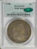 Early Dollars, 1798 $1 Large Eagle, Wide Date, Pointed 9 Fine 15 PCGS. CAC....
