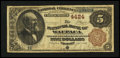 National Bank Notes:Wisconsin, Waupaca, WI - $5 1882 Brown Back Fr. 471 The NB of Waupaca Ch. # 4424. ...