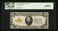 Small Size:Gold Certificates, Fr. 2402* $20 1928 Gold Certificate. PCGS New 62PPQ.. ...