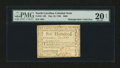 Colonial Notes:North Carolina, North Carolina May 10, 1780 $600 PMG Very Fine 20 Net....