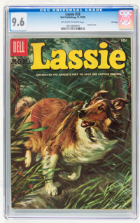 Lassie #25 File Copy (Dell, 1955) CGC NM+ 9.6 Off-white to white pages