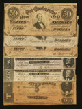 Confederate Notes:Group Lots, Mixed Lot of 1864 Confederate Notes. Seven Examples.. ... (Total: 7notes)