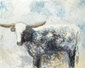 Paintings, THEODORE WADDELL (American, b. 1941). Longhorn #14, 1984. Oil on canvas. 48 x 60 inches (121.9 x 152.4 cm). Signed lower...