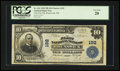 National Bank Notes:Maine, Brunswick, ME - $10 1902 Plain Back Fr. 624 The First NB Ch. # 192....