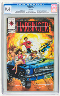 Harbinger #1 (Valiant, 1992) CGC NM 9.4 White pages