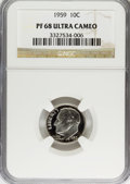 Proof Roosevelt Dimes: , 1959 10C PR68 Ultra Cameo NGC. NGC Census: (17/2). PCGS Population(28/3). Numismedia Wsl. Price for problem free NGC/PCGS...