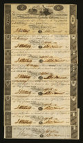 Obsoletes By State:Connecticut, Bristol, CT- Manufacturers' Exchange Company $2 (2) Sep. 2, 1814; $3 (2) Sep. 3, 1814; $5 (2) Sep. 5, 1814; and $10 (2) Sep.... (Total: 8 notes)