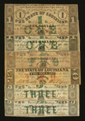 Obsoletes By State:Louisiana, Baton Rouge, LA- State of Louisiana $1 (2); $2 (2); $3 (2) Feb. 24, 1862. ... (Total: 6 notes)