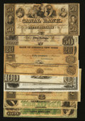 Obsoletes By State:Louisiana, Mixed Lot of Obsoletes from New Orleans & Shreveport. Ten Examples.. ... (Total: 10 notes)