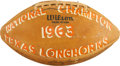 Football Collectibles:Balls, 1963 University of Texas Longhorns Team Signed Game Football....