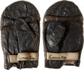Boxing Collectibles:Memorabilia, 1960's Cassius Clay (Muhammad Ali) Training Worn & SignedGloves....