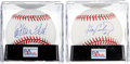 Autographs:Baseballs, Gary Carter and Carlton Fisk Single Signed PSA Graded Balls Lot of2.... (Total: 2 item)
