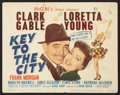 "Movie Posters:Comedy, Key to the City (MGM, 1950). Lobby Card Set of 8 (11"" X 14"").Comedy.. ... (Total: 8 Items)"