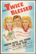 "Movie Posters:Comedy, Twice Blessed (MGM, 1945). One Sheet (27"" X 41""). Comedy.. ..."