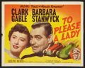 "Movie Posters:Adventure, To Please a Lady (MGM, 1950). Lobby Card Set of 8 (11"" X 14"").Adventure.. ... (Total: 8 Items)"